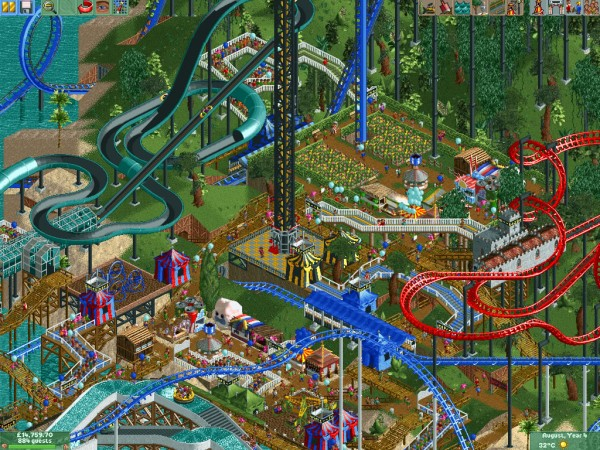 RollerCoaster Tycoon von Chris Sawyer. Ein Meisterwerk! / © Chris Sawyer