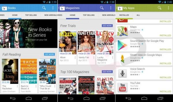 Der neue Play Store im schicken Flat Design / © Google